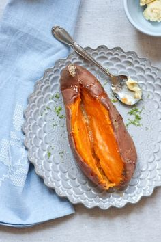 baked sweet potato w/ limebutter • five and spice