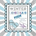 This is a fun little activity pertaining to Winter. Included are student generated ideas that could be used for an acrostic poem with the word 'winter'. Also have a student printable that the students can write their ideas on, as well as three additional winter coloring pages that can be used with this craft. ENJOY!