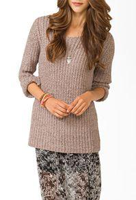 Forever 21 V-neck open knit sweater