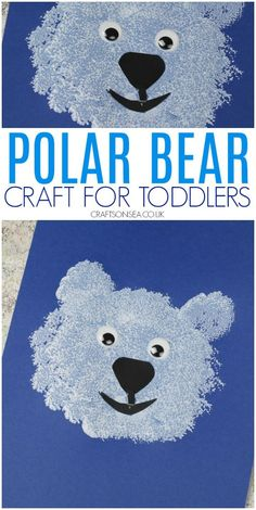 This cute polar bear craft for toddlers is a great way to practice fine motor skills and is perfect for winter or arctic animal crafts. Craft Activities For Toddlers, Winter Crafts For Toddlers, Preschool Art Projects, Animal Crafts For Kids, Toddler Crafts, Preschool Crafts, Kids Crafts, Winter Activities, Puppy Crafts
