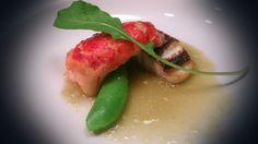 旬の白身魚と小さなオマール海老のポワレット蕗のソース