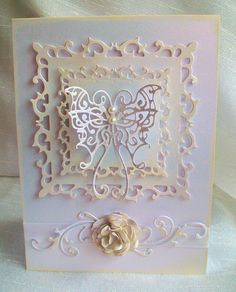 Card using spellbinders and versa inks