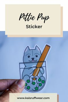 Pittie Sticker – Kai's Ruff Wear Dog Dad Gifts, Gifts For Dog Owners, Dog Lover Gifts, Dog Lovers, Pitbull Terrier, Bull Terriers, Dog Mom Shirt, Crazy Dog Lady, Cute Stickers