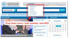 Are you making these common website mistakes? Non standard navigation, drop down menues, too many items in navigation, using buttons for navigation