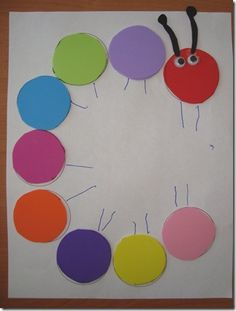 Letter C for Caterpillar art activity