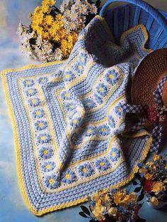 Crochet Afghans - Floral Afghan Crochet Patterns - Garden Afghan