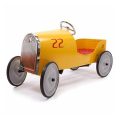 Goldini Yellow Pedal Car . Not on the High Street .