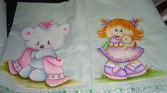 Pinturas em Tecido : Fraldas para meninas
