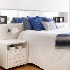 Bom dia segundona.... 💙 Para começar nossa semana, inspo quarto casal super clean e comfy, por GF Projetos.