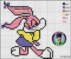 Resultado de imagem para aldray rafaelli ponto cruz Stitch 2, Bugs Bunny, Looney Tunes, Plastic Canvas, Comic Strips, Smurfs, Cross Stitch Patterns, Comics, Knitting