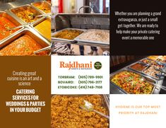 Whether you are planning a grand extravaganza, or just a small get-together. we are ready to help make your private catering event a memorable one. Indian Food Catering, Catering Services, Wedding Catering, Indian Food Recipes, How To Plan, How To Make, How To Memorize Things, Sweets, Restaurant