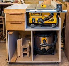 Mobile Tablesaw Stand for DeWalt DW745 (part 2 of 2) - Workshop Re-Model Episode 3 | Rag 'n' Bone Brown