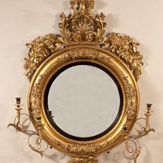 Important-Giltwood-Girandole-Mirror-surmounted-with-an-Eagle-and-Anthemion-