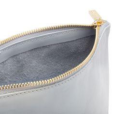 Soft Zipper Pouch Pale Blue