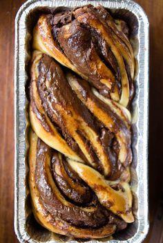 bread bakery chocolate babka recipe-best ever! Bread Bun, Bread Cake, Bread Recipes, Baking Recipes, Copycat Recipes, Just Desserts, Dessert Recipes, Fruit Dessert, Birthday Desserts