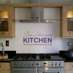 Personalised Kitchen Wall Sticker from Nutmeg Wall Art Stickers | Made By Nutmeg | £26.00 | BOUF