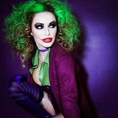 "Fashion shot inspired by ""The Joker."""