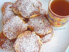 Μηλοτηγανίτες Sweet Recipes, Snack Recipes, Snacks, Pancakes, Cereal, Deserts, Chips, Apple, Breakfast