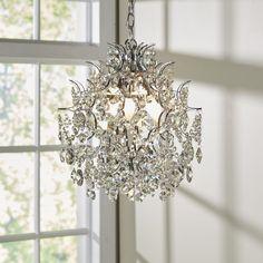 Clea Crystal Chandelier - All For Decoration Chandelier Design, Chandelier Bedroom, Mini Chandelier, Flower Chandelier, Chandelier Ideas, Beaded Chandelier, Interior Lighting, Home Lighting, Pendant Lighting