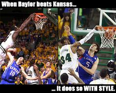 When #Baylor beats Kansas, it does so WITH STYLE. #sicem