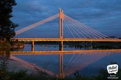 Rovaniemi Lumberjack bridge at AM in June. Lapland Finland, Midnight Sun, Golden Gate Bridge, Travel Around, Wonderful Places, New Experience, Northern Lights, Bridges, City