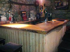 Rustic Basement Bar