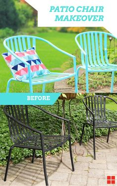 Beautiful These Easy Turquoise Patio Chairs Can Be Made In Just