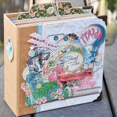 #come #away #with #me #italia #minialbum #album #happybirthday #to #travel #is #to #live #love #scrapbook #scrapbooking #graphic45 Graphic 45, Art Journaling, Mini Albums, Decorative Boxes, Happy Birthday, Scrapbooking, Live, Travel, Instagram