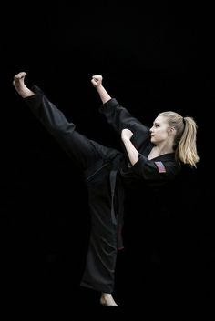 Martial arts, tae kwon do, girl, kick, photography