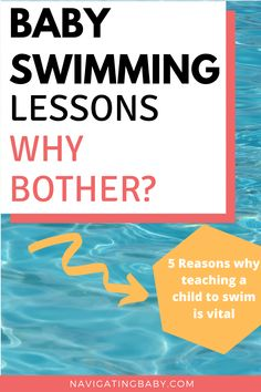 Baby Swimming Lessons - Why Bother going? 5 Reasons why teaching your child to swim is vital baby swimming toddler swimming learning to swim Baby Swimming Lessons, Toddler Swimming, Girls Swimming, Swim Lessons, Teach Baby To Swim, Learn To Swim, Why Bother, Baby Pool, Baby Swimsuit