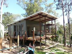 Range of small houses — Baahouse / Granny flats / Tiny House / Small houses / Brisbane / Australia wide Tiny Beach House, Tropical Beach Houses, Tropical House Design, Small Beach Houses, Modern Tiny House, Tiny House Cabin, Small House Design, Small Houses, Cottage Style House Plans
