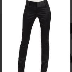 Alice + Olivia black satin pants SZ 8 Black satin skinny trousers Alice + Olivia Pants Skinny