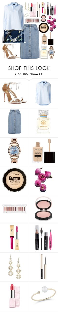 """""""Untitled #574"""" by ngkhhuynstyle ❤ liked on Polyvore featuring Aquazzura, Alexander Wang, M.i.h Jeans, Christian Dior, Tory Burch, Chopard, Wet n Wild, Maybelline, Forever 21 and Estelle & Thild"""