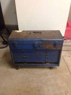 Vintage Kennedy Rolling Tool 8 Drawer Chest Box Cart With Storage Compartment #Proto