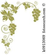 Stock Illustration of Bunches Of Grapes k0913069 - Search Vector Clipart, Drawings, Print Murals, Illustrations, and EPS Graphics Images - k0913069.jpg