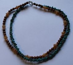 Sterling Silver Turquoise Coral and Granite Double by onetime, $7.25
