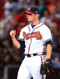 CrowdCam Hot Shot: Atlanta Braves relief pitcher Craig Kimbrel reacts after defeating the Los Angeles Dodgers in game two of the National League divisional series playoff baseball game at Turner Field. The Braves won 4-3. Photo by Daniel Shirey