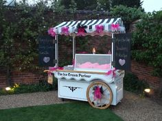 Hire an ice-cream cart or have a popcorn and soda stand. This could be outside during the cocktail hour :)