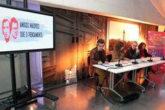 """Apresentação ao público e à imprensa do movimento cívico """"Amigos Maiores que o Pensamento"""" na Casa da Música, em Janeiro de 2012."""