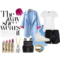 """""""Another Way to Wear White Tee"""" by monikazajac on Polyvore"""