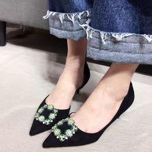 2017 Microfibra Fina High Heel Bombas 6 cm Apontou Sapatos Femininos De Salto Do Dedo Do Pé Das Mulheres Sapatos de Salto Alto alishoppbrasil