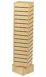 "Rotating Slatwall Tower > Color: Maple  Dimensions: 12"" Sq x 54""H"