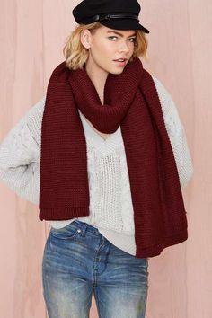 Julia Knit Scarf - Scarves + Gloves