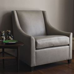 Sweep Leather Armchair | west elm-no longer available but like the style