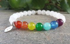 7 Chakras Bracelet Chakra Mala Beads Yoga by Braceletshomme $26.50