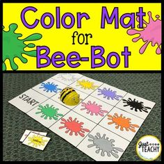 Color Mat for Bee Bot Coding Robot Kindergarten Science, Teaching Science, Preschool, Teaching Colors, Teaching Ideas, Computational Thinking, Math Centers, Science Centers, Coding For Kids