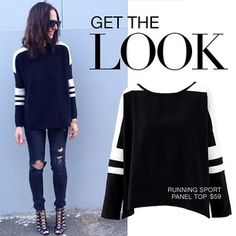 follow @Esther Aduriz boutique on INSTAGRAM - Get @tashsefton's look with our running sport jumper $59 available online at esther.com.au