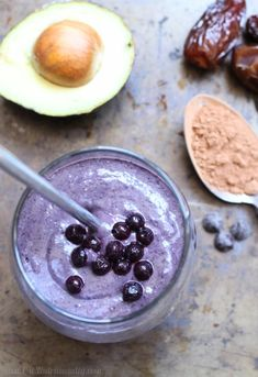 Creamy Chocolate Wild Blueberry Smoothie