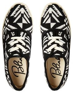 These black and white  graphic shoes are $26. Yes.