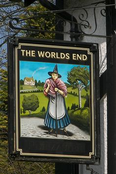 The Worlds End, Pub sign